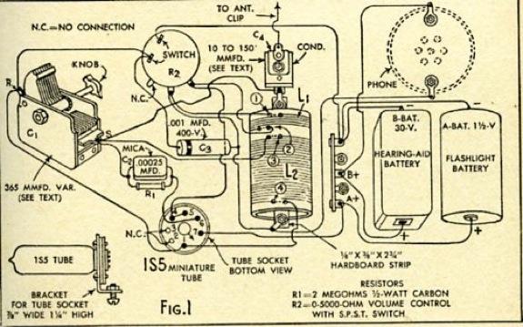 One valve radio